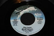 Bertie Higgins Key Largo b/w White Line Fever 45 From Co Vault Unopen Box *