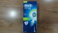 Brand New Braun Oral B Pro 600 3D Action CrossAction Toothbrush Light Blue 3757.