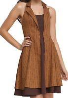 HOT TOPIC Dr Who Regeneration brown halter dress Women's XL Cosplay