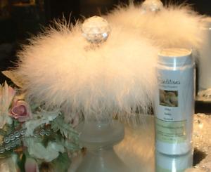 Gardenia ~ 6 oz Perfumed Dusting Powder w/ Puff & Stand by Renditions