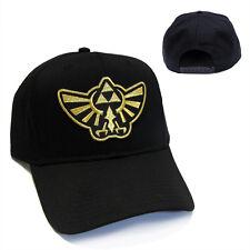 Legend of Zelda Hyrule's Royal Crest Gold Patch Snapback Black Cap Hat - LZG01