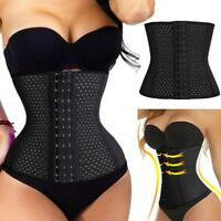 Women Men Waist Training Cincher Tummy Girdle Belt Body Shaper Corset Trimmer US