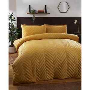 Liberty Yellow Mustard Ochre Quilted Double King Premium Duvet Set New