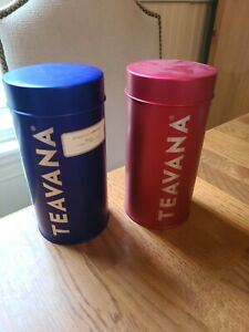Teavanna Tea Tin Storage Containers set of 2  8oz vg shape