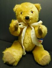 "Dean's 12"" Teddy Gold Blonde Beige Mohair Bear Uk Side Tag!"