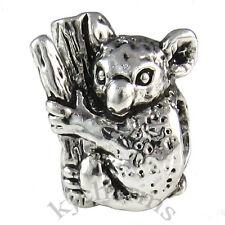 Koala Bear Animal Silver European Spacer Charm Bead For Bracelet EB648