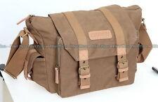 Caden F1 Water-resistance Canvas Shoulder Camera Lens Flash Bag Video Carry Case