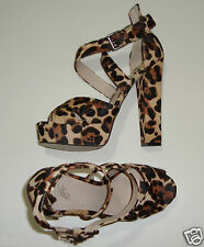 "BNIB:STUNNING WITTNER LEOPARD PRINT LEATHER SUPER HIGH HEELS 40 ""SIRVANA"""