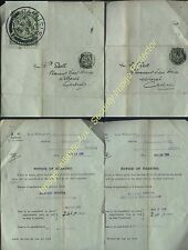 1916-17 WWI CARLISLE MILITARY SERVICE application for Exemption lot + ½d PERFINS