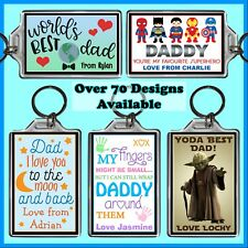 Personalised Fathers Day Key Ring - 7x5cm Keyring Chain, Gift Idea, Dad, Grandpa