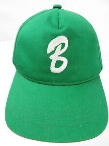 "Letter ""B"" Green White Baseball Snapback Youth Ball Cap Hat"