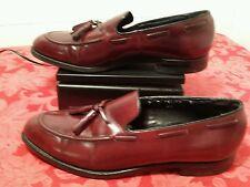 Florsheim 9 C  Burgundy Shoes Leather Mens Tassel Loafer Slip On Dress