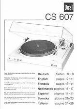 Dual Bedienungsanleitung für CS 607 / 617 Q  Copy