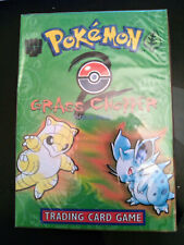 Pokemon Set Base 2 GRASS CHOPPER Theme Deck, FACTORY SEALED MAZZO DANNEGGIATO