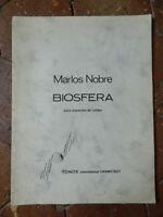 Marlos Nobre Spartito Biosfera Tonos International Darmstadt Autografo 1972