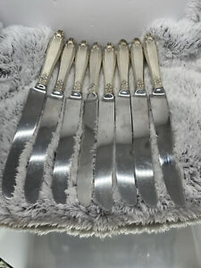 "STERLING SILVER HANDLE FRENCH KNIFE LOT 8 INTERNATIONAL PRELUDE-9 1/8""- NO RES"