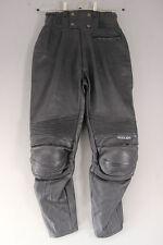 FURYGAN VULCAIN BLACK LEATHER BIKER TROUSERS + KNEE ARMOUR: WAIST 30/I.LEG 26 IN