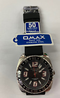 OMAX SUPREME  Quartz  Watch TS672 Stainless Steel  50m WR With OMAX Original Box