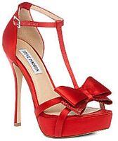 Steve Madden Red Holly T-Strap Platform Heels - Red or Black Polka Dot -  $109