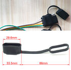 50pcs Trailer 4pin Flat Wire Connector Waterproof Cover Cap Tow Side Rubber Plug