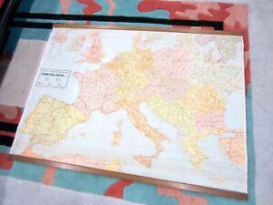 Rittmann carta Geografica stradale Europa vintage '70 95x127 wallmaps scolastica