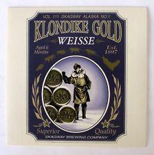 Skagway Brewing KLONDIKE GOLD - WEISSE  brewery sticker ..not a beer label AL