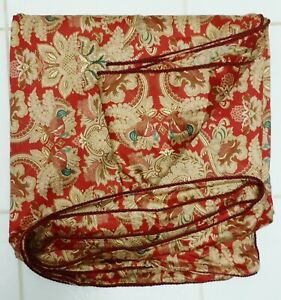 Ralph Lauren DUVET Comforter COVER JARDINIERE RED Sateen Rope Edge Italy FULL/QN