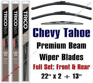 2015+ Chevrolet Chevy Tahoe Premium Wiper Blades 3-Pack Front/Rear 19220x2/30130