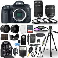 Canon 7D Mark II Camera + 18-55mm STM Lens + 75-300mm+ 30 Piece Accessory Bundle