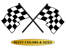 Checkered Racing Flags Vinyl Wall Decal Sticker Office Garage Room Decor Trailer