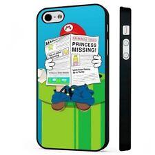 Super Mario divertido Nintendo 90s teléfono negro Funda de suplantación de identidad se adapta iPhone