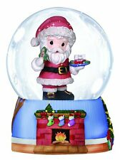 Precious Moments Santa with Cookies Musical Waterglobe
