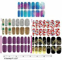 22 Sets Nail art water transfer decal sticker wrap K Rainbow Silver Water Vines