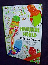"NATURAL WORLD COLOR AND DOODLE BOOK 8"" X 11"" & FREE COLOR PENCILS"