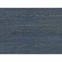 Wallpaper navy blue brown real Natural Grasscloth wallcoverings grass cloth