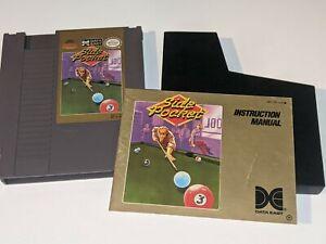 SIDE POCKET Billiards/Pool Vintage Nintendo NES Video Game Cartridge w/ Manual