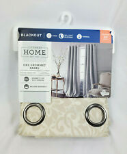 "JCP Home Pebble Beach Plaza Tapestry Blackout Grommet Curtain Panel, 50""x84"""