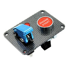 Car Boat Engine Start Push Button Blue Cover Toggle Ignition Switch