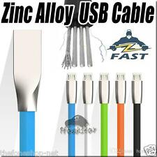 Alloy metal Strong Rubber micro usb cable Fast Charging Data For Android Phones