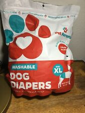 Pet Parents Washable Dog Diapers (3pack) of Doggie Diapers XL BLACK