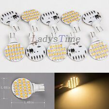 10 x Warm White T10 Wedge 24 SMD 2835 LED Interior Light Bulb W5W 921 194 Car RV