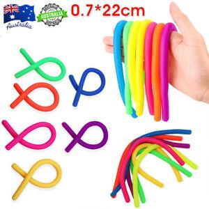 6Pcs Large Stretchy String monkey noodle Sensory Fidget Stress Relief Toy Kids
