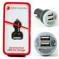 Red Samurai Universal Dual USB Car Charger For iPhone XR XS X 8 7 6S iPad Kindle