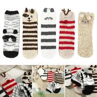 5 paires femmes chaussettes moelleuses Noël hiver chaud pantoufle coral polaire
