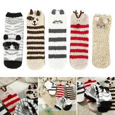 5 Pairs Animal Women Socks Funny Coral Fleece Christmas Warm Sleeping Socks New