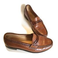 ALLEN EDMONDS Newcomb Made in USA Size 9.5D Loafers Slip on Dress Shoes