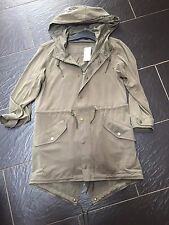 POLO RALPH LAUREN LADIES KHAKI GREEN PARKA SIZE XS 8/10 RRP £260 NEW
