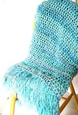 Turquoise Blanket Handmade Throw Blanket. Afghan. NWOT Afghan MADE TO ORDER