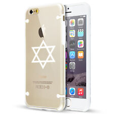 For Apple iPhone SE 5s 6 6s 7 8 Plus Clear TPU Hard Case Jewish Star of David