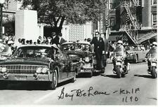 GARY DELAUNE Signed Photo JFK JOHN F KENNEDY ASSASSINATION COA